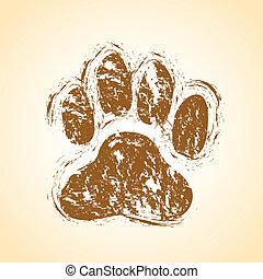 pattes, chien