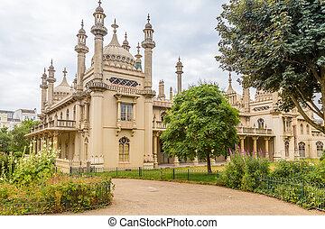 pavillon, sussex, est, uk., brighton, royal