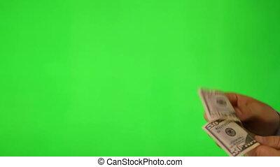 payant, client, écran, vert