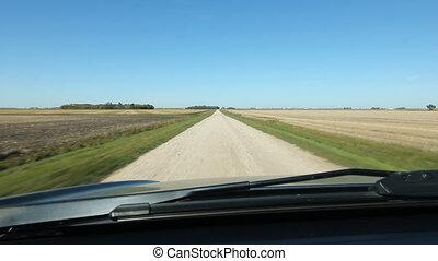 pays, road., conduite, manitoba