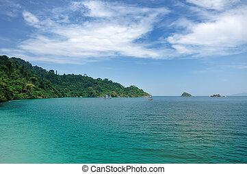 paysage., île, exotique, thailand., mer, chang