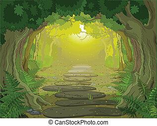 paysage, entrée, magie