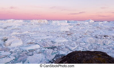 paysage, glacier, iceberg, glace, groenland, nature, arctique