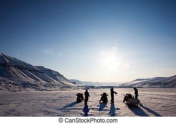 paysage hiver, aventure