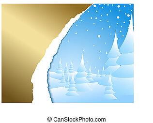 paysage hiver, neigeux