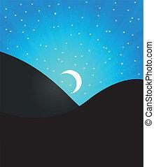 paysage, lune