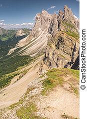 paysage, montagne, sablonneux, rocheux, paysage