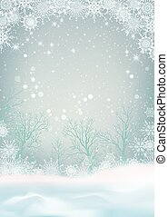 paysage, neige, hiver