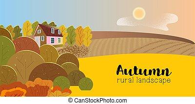 paysage rural, arbres