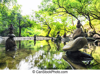 paysage., spirituel, nature, zen, environment., calme, méditation