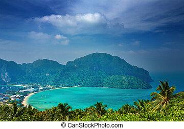 paysage, thaïlande, exotique