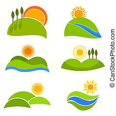 paysages, icônes