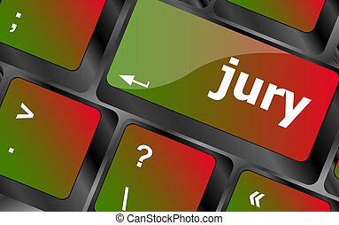 pc, clã©, jury, ordinateur clavier, mot