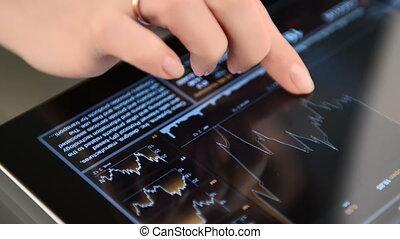 pc, données, business, tablette