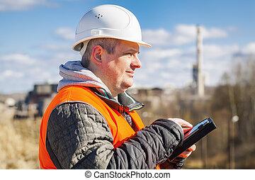 pc, tablette, fonctionnement, ingénieur