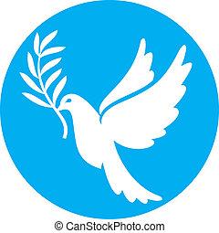 (peace, dove), paix, colombe