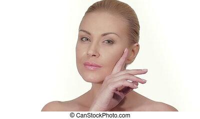 peau, concept, bien-être, soin
