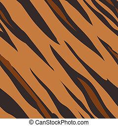peau, modèle, impression, seamless, tigre, carrelage, animal