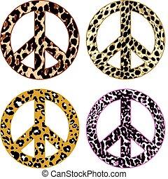 peau, paix, fourrure, animal, signe
