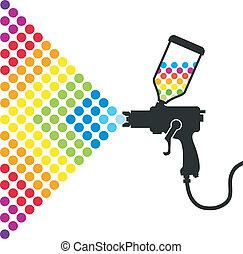 peindre pistolet a peinture