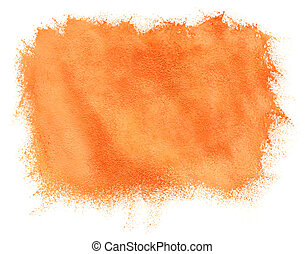 peint, aquarelle, fond, orange