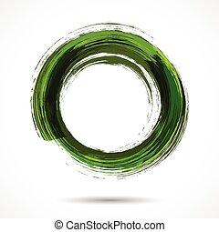 peint, aquarelle, vert, brosse, frais, anneau