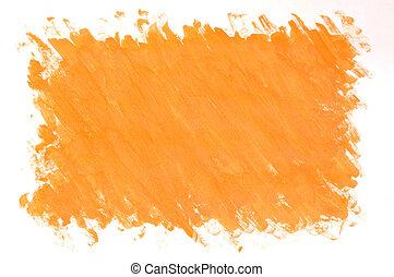 peint, arrière-plan orange