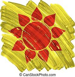 peint, soleil, résumé, jaune, artistique, fond