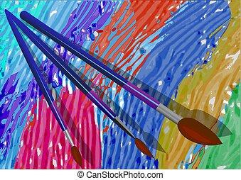 peinture brosse