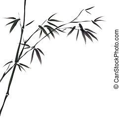 peinture chinoise, bambou