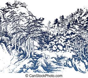 peinture chinoise, paysage