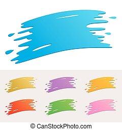 peinture, coloré, éclaboussure