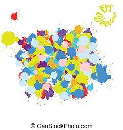 peinture, coloré, fond, éclaboussure