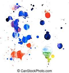 peinture, eclabousse