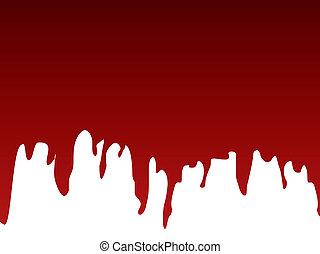 peinture, fuir, rouges