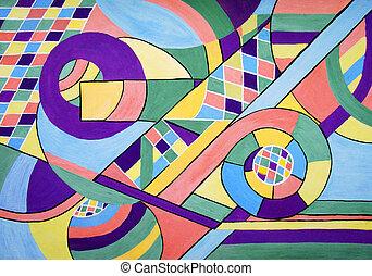 peinture, géométrie, résumé