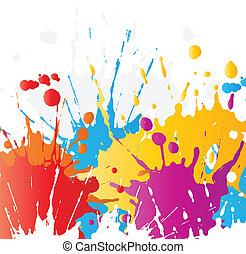 peinture, grunge, splats