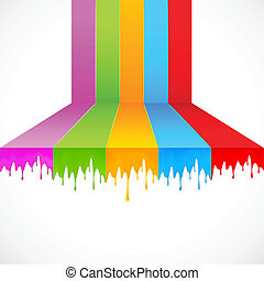 peinture, multicolore