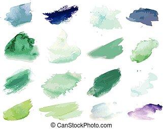 peinture, splat, aquarelles
