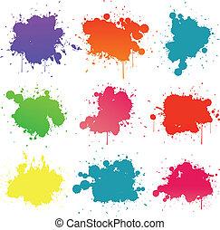 peinture, splat, collection