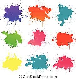 peinture, splat, coloré