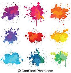 peinture, splat