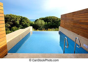 peloponnes, villa, luxe, mer, grèce, piscine, vue