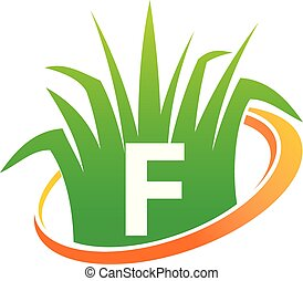 pelouse, initiale, centre, soin, f