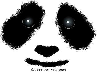pelucheux, panda