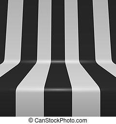 penchant, raies verticales, arrière-plan., vecteur, noir, blanc