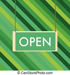 pendre, signe ouvert