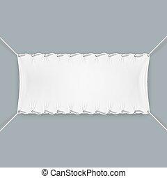 pendu, textile, cordes, banner.