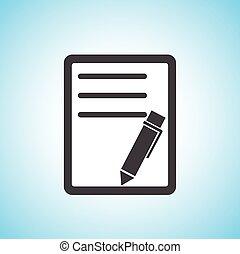 pen/paper, document, icône