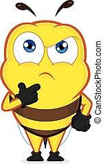 pensée, abeille